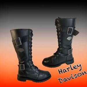 Harley Davison Women's Belhaven Knee-Hi Black boot